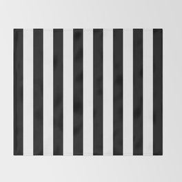 Parisian Black & White Stripes (vertical) Throw Blanket