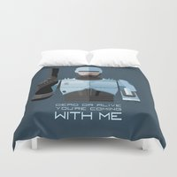 robocop Duvet Covers featuring Dead or alive, you're coming with me (RoboCop) by DWatson