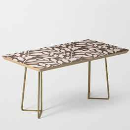 Leaves and Branches in Cream and Brown Coffee Table