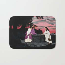Christ and the Woman of Samaria by Horace Pippin Bath Mat