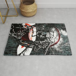Basketball art swoosh vs 38 Rug
