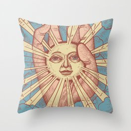Dumb Sun Throw Pillow