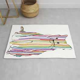 Color Drip Cat Rug