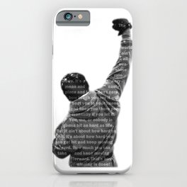 How Hard You Get Hit - Rocky Balboa iPhone Case