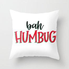 Humbug! Throw Pillow