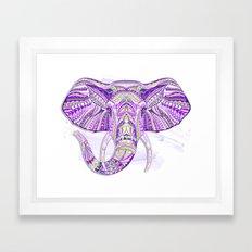 Purple Ethnic Elephant Framed Art Print