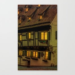 Hotel crooked house Ulm Canvas Print