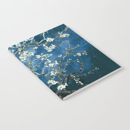 Van Gogh Almond Blossoms : Ocean Blue Notebook