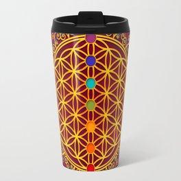 FLOWER OF LIFE, CHAKRAS, SPIRITUALITY, YOGA, ZEN, Travel Mug