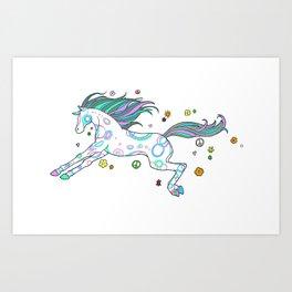 Hippie Horse Art Print