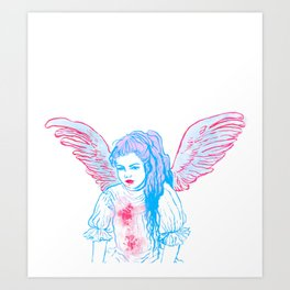 Art Angel Art Print