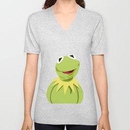 Kermit - The Optimistic Frog Unisex V-Neck