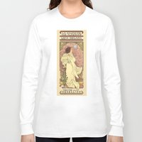 mucha Long Sleeve T-shirts featuring La Dauphine Aux Alderaan by Karen Hallion Illustrations
