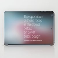 poetry iPad Cases featuring Poetry by Rafael CA