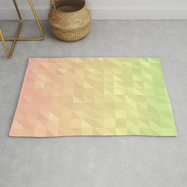 Pink and Green - Flipped Rug