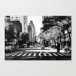 New York City Streets Contrast Canvas Print