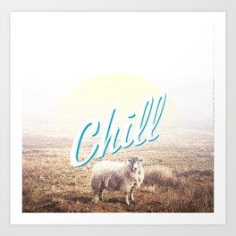 Sheep - chill Art Print