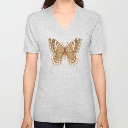 Beautiful Copper Butterfly Design Unisex V-Neck