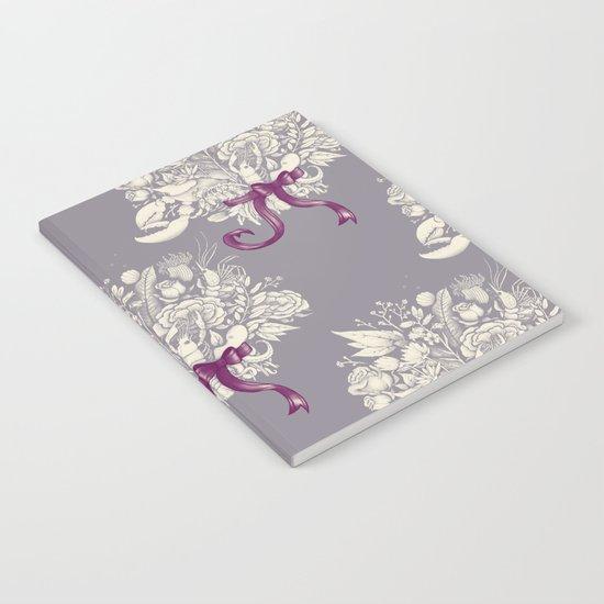Undersea Victorian - gray Notebook