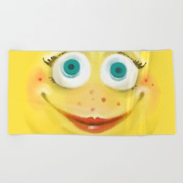 Just Smile :) Beach Towel