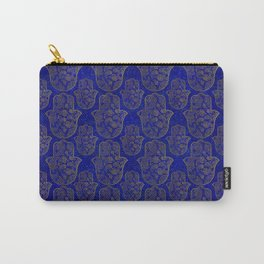 Hamsa Hand pattern - gold on lapis lazuli Carry-All Pouch