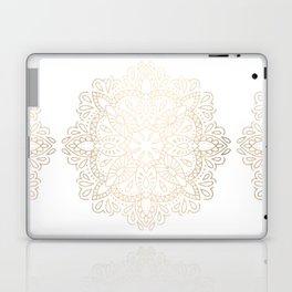 Mandala White Gold Shimmer by Nature Magick Laptop & iPad Skin