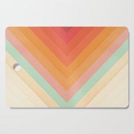 Rainbow Chevrons Cutting Board