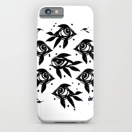 Evil eye _ intuition awakening_Hand Painted ink iPhone Case