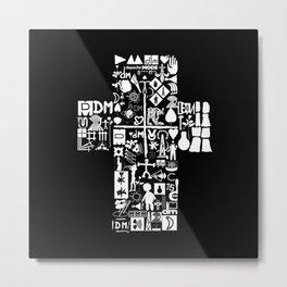 DM : Personal Jesus with dm logo - white Metal Print