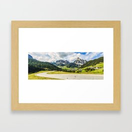 on the roads of dolomites Framed Art Print