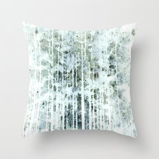 Painterly Woodlands Abstract Throw Pillow