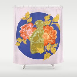 Guardian Lion, Left Shower Curtain