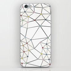 Seg with Color Spots White iPhone & iPod Skin