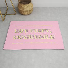 Pastel Pink Party Cocktails Rug