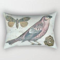Vintage boho and bird Rectangular Pillow