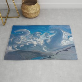 Magical Mystical Clouds Over India Rug