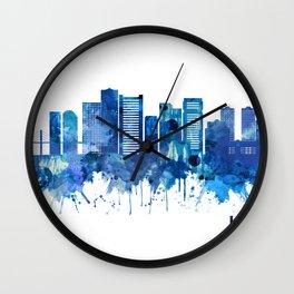 La Paz Bolivia Skyline Blue Wall Clock