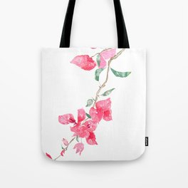 red  pink  bougainvillea watercolor Tote Bag