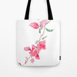 red  pink  bougainvillea watercolor Tote Bag