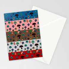 Mushroom patchwork Stationery Cards