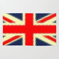 union jack Area & Throw Rugs featuring Union Jack by deff