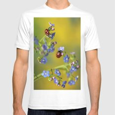 Forget me not... Mens Fitted Tee MEDIUM White