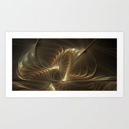 Magical Luminous Forms Abstract Modern Fractal Art Art Print