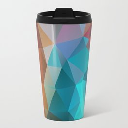 Abstract bright background of triangles polygon print illustration Travel Mug