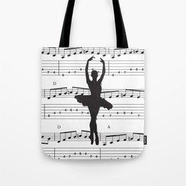 ballerina art, music Notes , girls nursery art, ballerina décor , girls nursery art , Tote Bag