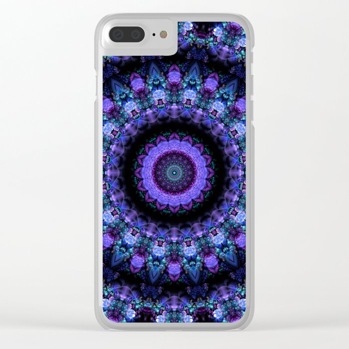 Midnight In The Garden Mandala Clear iPhone Case