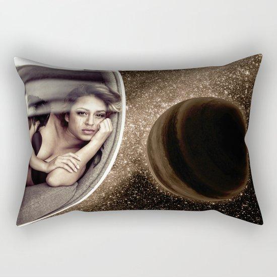 Sad walk in Space Rectangular Pillow