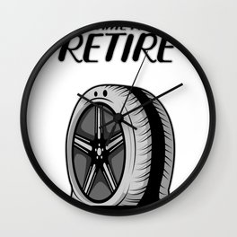 Time To Retire Retired Person Gift Wall Clock