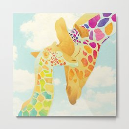 Shanti Sparrow: Harriet & Henry the Giraffes Metal Print
