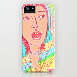 FEM NotShe - Hipster Chick Fashion Digital Drawing iPhone Case